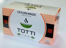 Чай черный TOTTI Tea Ceylon Magic (Магия Цейлона) пакетированный в конвертах, 25 шт.