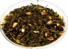 Чай зеленый HANSA TEA Японская липа, 500 г, фольгированный пакет, крупнолистовой зеленый ароматизированный чай, купить чай