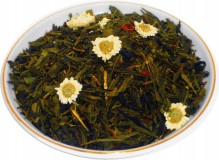 Чай зеленый HANSA TEA Улыбка Гейши, 500 г, фольгированный пакет, крупнолистовой зеленый ароматизированный чай, купить чай