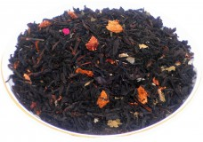 Чай черный HANSA TEA Земляника со сливками, 500 г, фольгированный пакет, крупнолистовой ароматизированный чай, купить чай