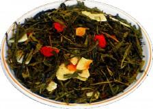 Чай зеленый HANSA TEA Клубника колада, 500 г, фольгированный пакет, крупнолистовой зеленый ароматизированный чай, купить чай