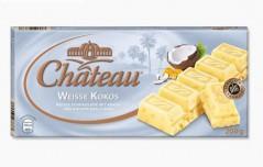 Шоколад Chateau Weisse Kocos (Шато Вайсе Кокос) 200 г, плитка, немецкий шоколад