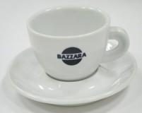 Кофейная пара Bazzara, чашка (150мл) + блюдце. Итальянский фарфор