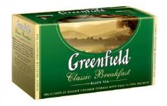 Чай черный Greenfield Classic Breakfast пакетированный 25 пакетиков в упаковке