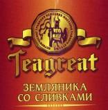 Teagreat, Земляника со сливками, черный фруктовый, весовой (0,1 кг.)