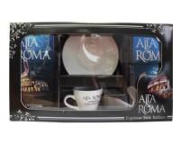 Alta Roma Intenso (Альта Рома Интенсо),  Подарочный набор. Кофе молотый плюс кофейная пара.