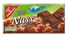Шоколад Chateau Edel Nuss (Шато Идель Нусс) 200 г, плитка, немецкий шоколад