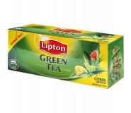 Чай Lipton Citrus Green Tea зеленый с цитрусовыми 25 пакетиков по 1,3гр. в упаковке